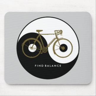 Tapis De Souris ÉQUILIBRE de DÉCOUVERTE/bicyclette yang de yin