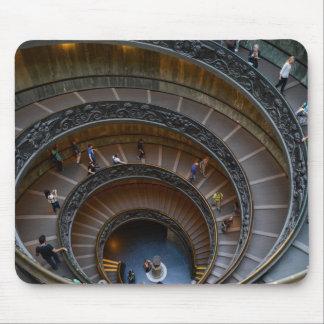 Tapis De Souris Escalier en spirale de musée de Vatican