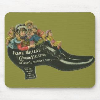 Tapis De Souris Étiquette vintage de produit, cirage à chaussures