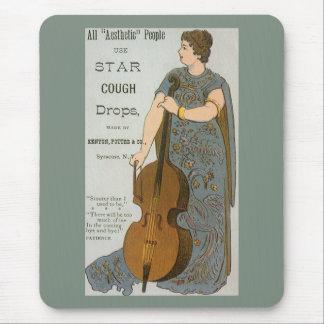 Tapis De Souris Étiquette vintage de produit, pastilles d'étoile