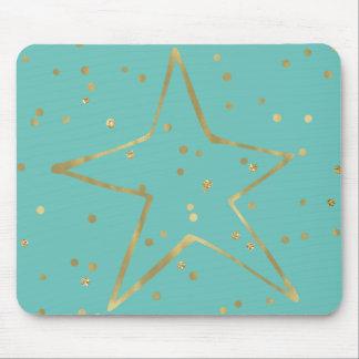 Tapis De Souris Étoile en bon état de confettis d'or