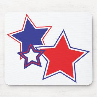 Tapis De Souris Étoiles bleues blanches rouges patriotiques
