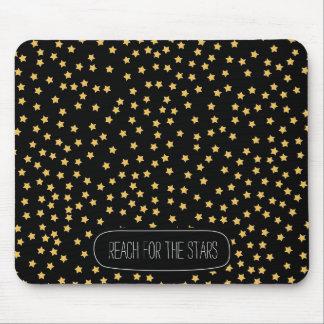 Tapis De Souris Étoiles noires et jaunes