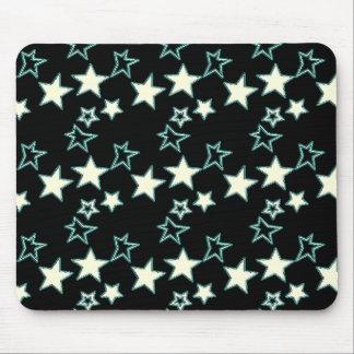 Tapis De Souris Étoiles peu précises au néon Mousepad