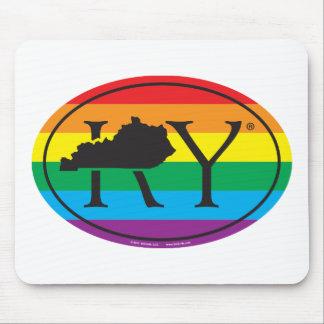 Tapis De Souris Euro de fierté d'état de LGBT : Les KY Kentucky