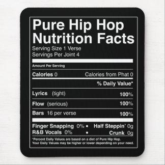 Tapis De Souris Faits de nutrition de hip hop