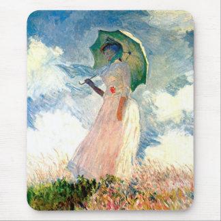 Tapis De Souris Femme de Claude Monet avec le parasol