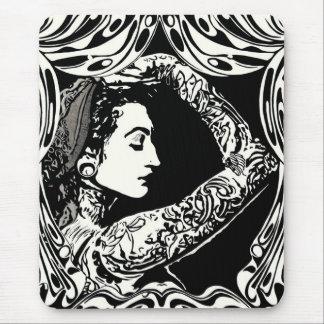 Tapis De Souris Femme gitane tatouée