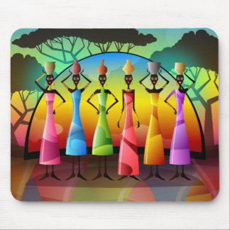 Tapis De Souris Femmes africaines avec des navires Mousepad