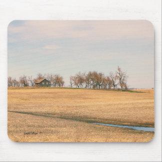 Tapis De Souris Ferme abandonnée de prairie dans le Dakota du Nord