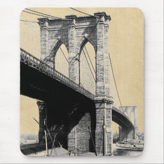 Tapis De Souris Ferrys-boat 1896 de pont de Brooklyn