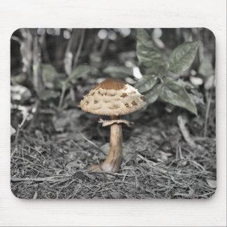 Tapis De Souris Feuille sauvage de vert de champignon