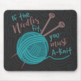 Tapis De Souris Fil drôle d'aiguilles de tricoteuses d'humour de