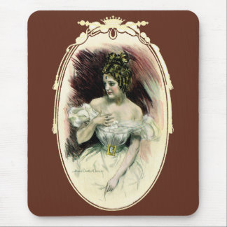 Tapis De Souris Fille vintage de Christy, portrait nuptiale