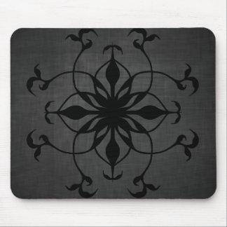 Tapis De Souris Fleur gothique dans noir et le gris