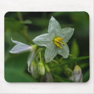 Tapis De Souris Fleur sauvage blanc Mousepad floral d'ortie de