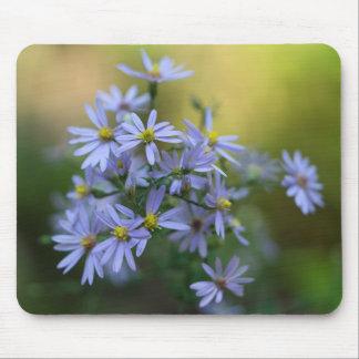 Tapis De Souris Fleur sauvage floral Mousepad d'asters pourpres
