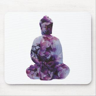 Tapis De Souris Fleurs de cerisier Bouddha