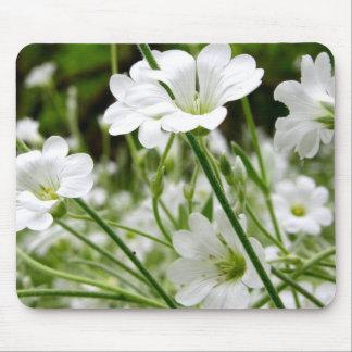 Tapis De Souris Fleurs sauvages blanches simples