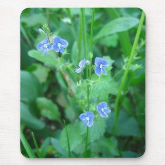 Tapis De Souris Fleurs sauvages bleus minuscules