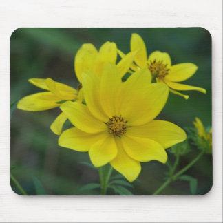 Tapis De Souris Fleurs sauvages jaunes Mousepad
