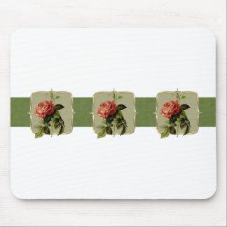 Tapis De Souris Fleurs vintages rouges au loin