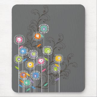 Tapis De Souris Floral coloré lunatique de jardin d'agrément super