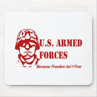 Tapis De Souris Forces armées des USA (rouges)