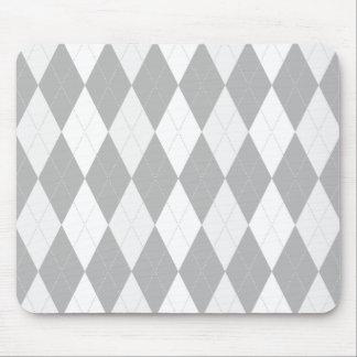 Tapis De Souris Forme gris-clair à motifs de losanges grise de