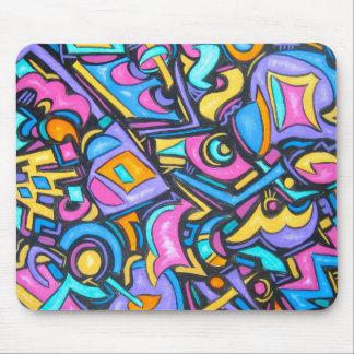 Tapis De Souris Formes lunatiques audacieuses colorées géniales