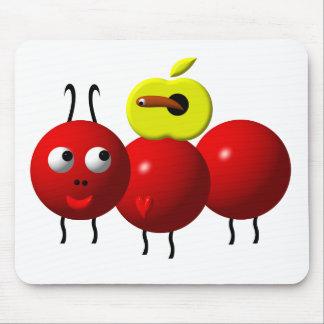 Tapis De Souris Fourmi mignonne avec la pomme