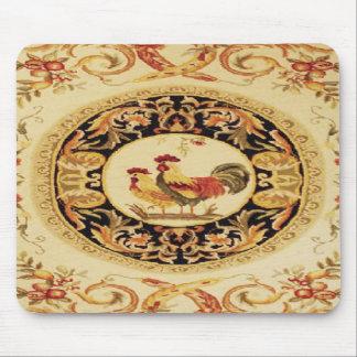Tapis de souris français de conception de coq et