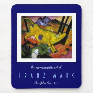 Tapis De Souris Franz Marc - la vache jaune - expressioniste