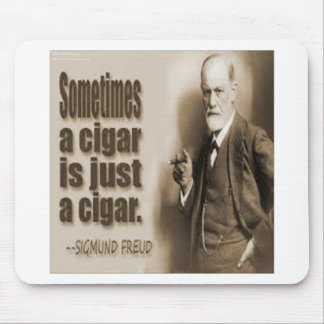 Tapis De Souris Freud et citation de cigare