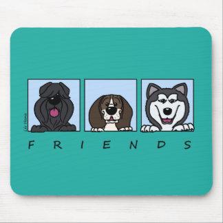 Tapis De Souris Friends : Bouvier, Beagle et Alaskan Malamute
