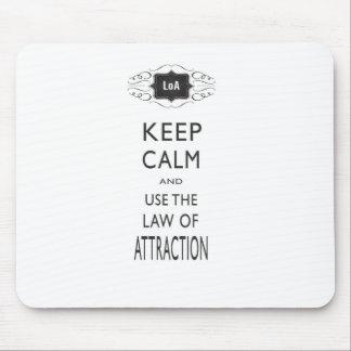 Tapis De Souris Gardez la loi calme de la conception d'attraction