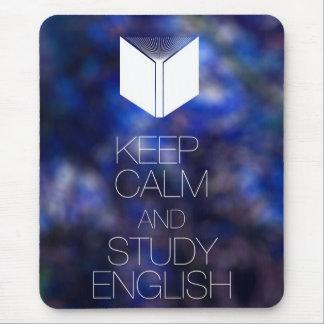 Tapis De Souris Gardez le calme et étudiez l'anglais