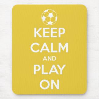 Tapis De Souris Gardez le calme et le jeu sur le jaune