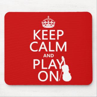 Tapis De Souris Gardez le calme et le jeu sur (violon) (toute