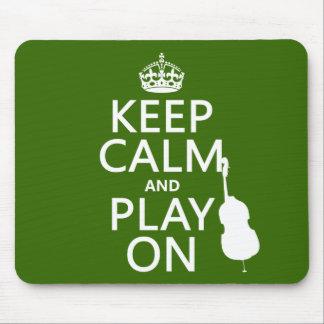 Tapis De Souris Gardez le calme et le jeu sur (violoncelle) (toute