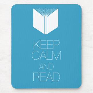 Tapis De Souris Gardez le calme et lisez