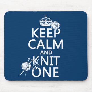 Tapis De Souris Gardez le calme et tricotez un - toutes les