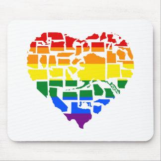 Tapis De Souris Gay pride dans chacun des 50 états