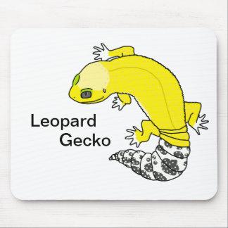 Tapis De Souris Gecko de léopard 2 (bkg blanc) Mousepad