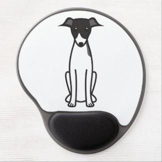 Tapis De Souris Gel Bande dessinée de chien de lévrier italien