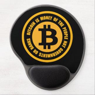 Tapis De Souris Gel Bitcoin est argent des gouvernements de personnes
