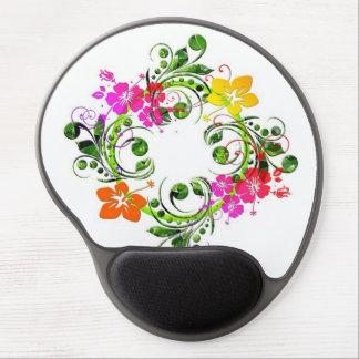 Tapis De Souris Gel circulo floral de fin de support d'imagem