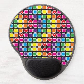 Tapis De Souris Gel coloridos de zigzag de fin de support de quadrados