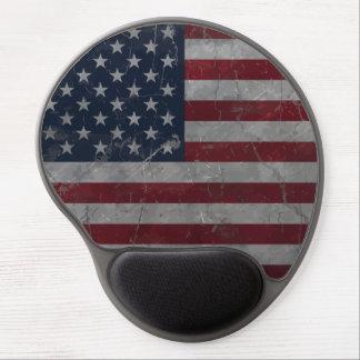 Tapis De Souris Gel Drapeau américain grunge vintage en métal