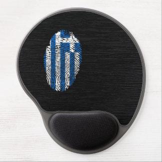 Tapis De Souris Gel Drapeau grec d'empreinte digitale de contact